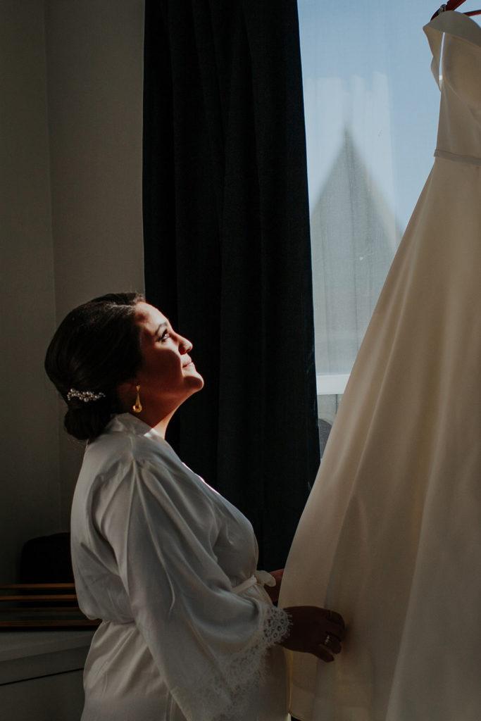 Bridal preparati, for a DC winter wedding