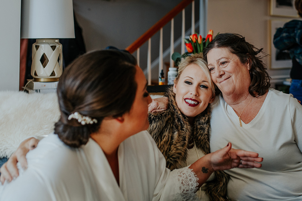 a quiet special moment during a wedding day getting ready