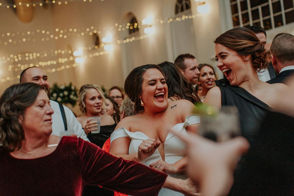 Bride and groom dance the night away