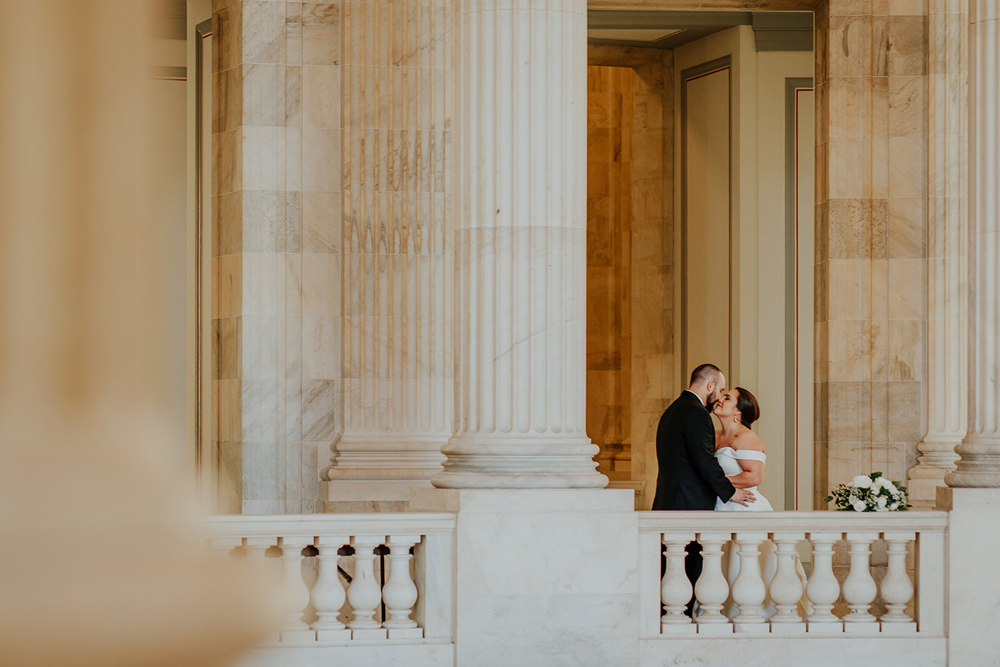 Wedding photos in the Senate building, washington D.C.