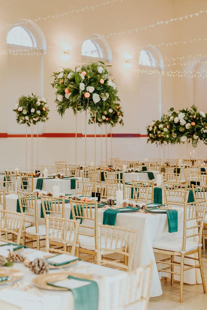 Capitol Hill Wedding Reception guest tables