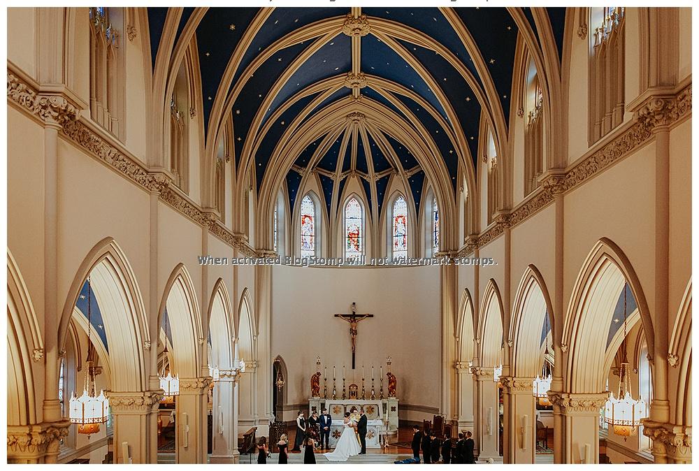 catholic wedding ceremony at St. Joseph's church in Washington DC.