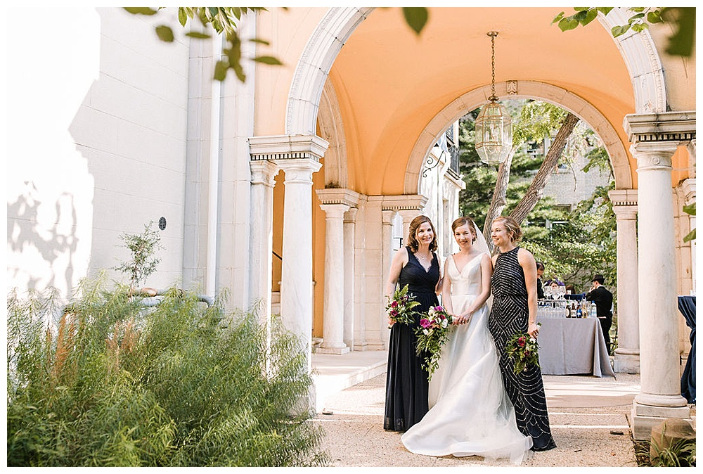 wedding party photos at Josephine Butler Parks Center