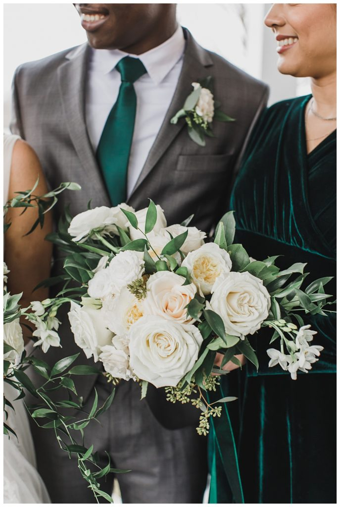 bridal party portraits for a styled winter wedding