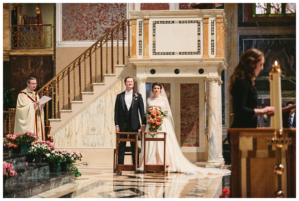 wedding ceremony at St. Matthew's Cathedral in DC