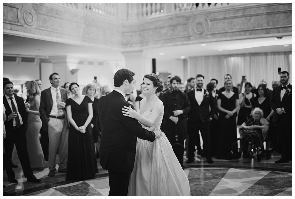 Couple's first dance at National Museum of Women in the Arts, a premier DC venue