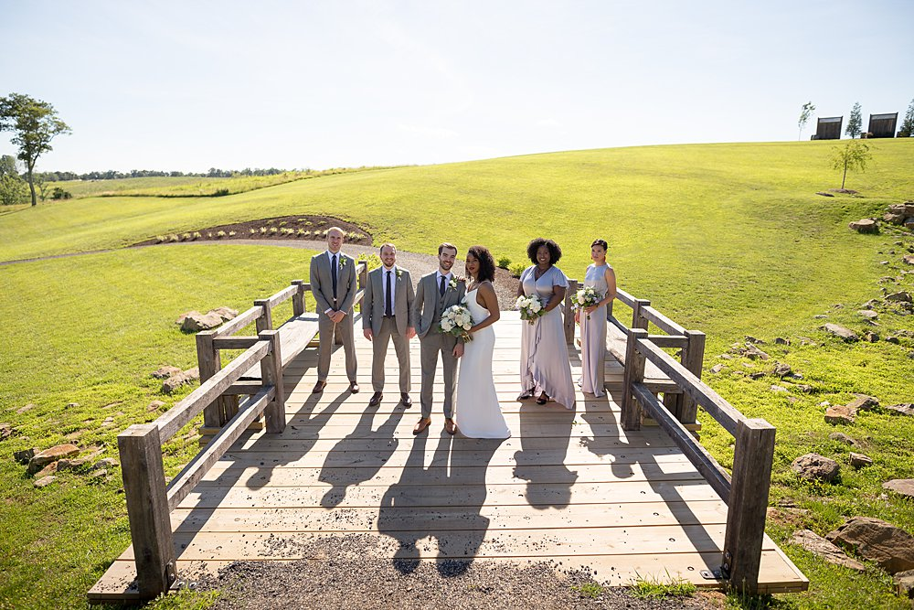 Wedding party portraits at Stone Tower Winery