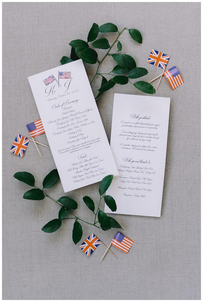 An American-British wedding celebration